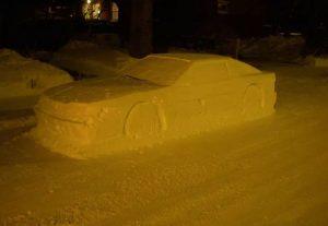 На сніговий автомобіль виписали… штраф