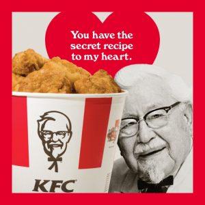 Валентинки із запахом смаженої курочки – від KFC