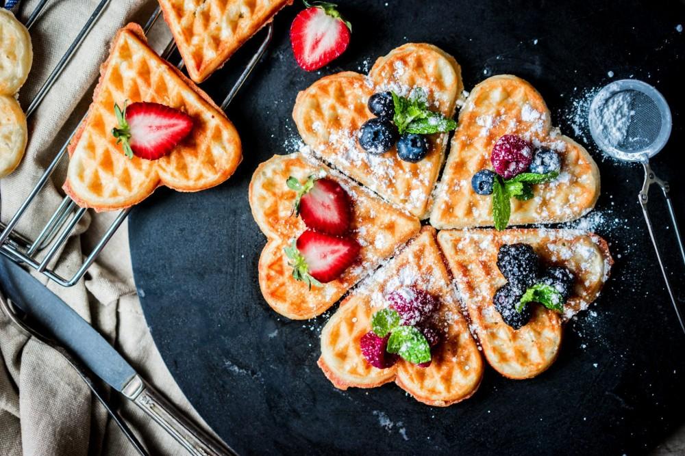 бельгійські вафлі на день валентина