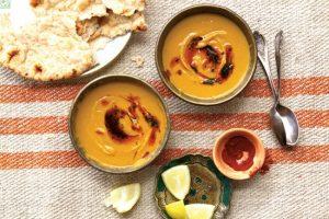 Палестинський суп із червоної сочевиці і гарбуза